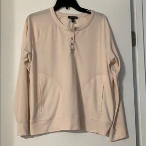Kenneth Cole raglan sleeve rose gold snaps Size L